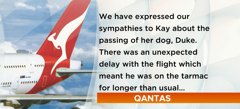 Qantas issued a statement and an apology following Duke's death.