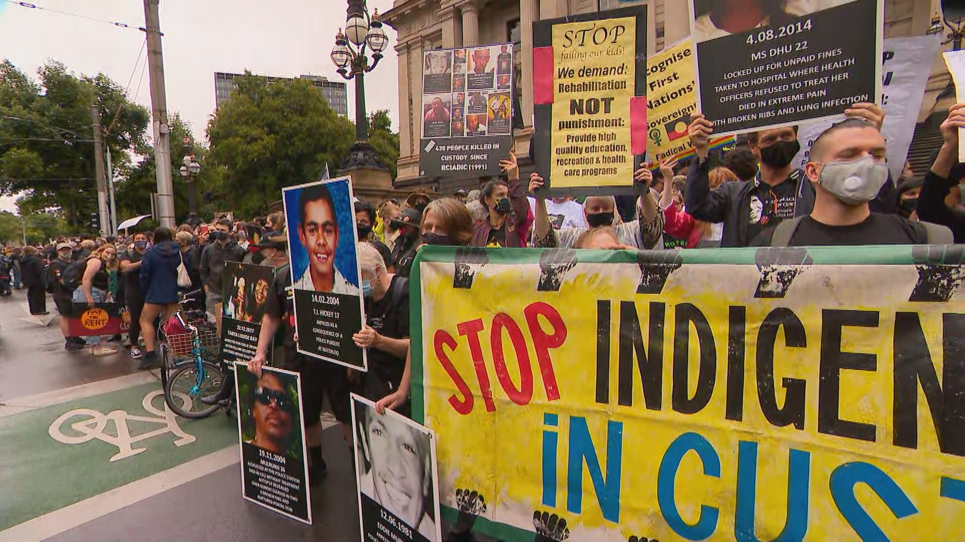 Thousands gather for Australia Day protests