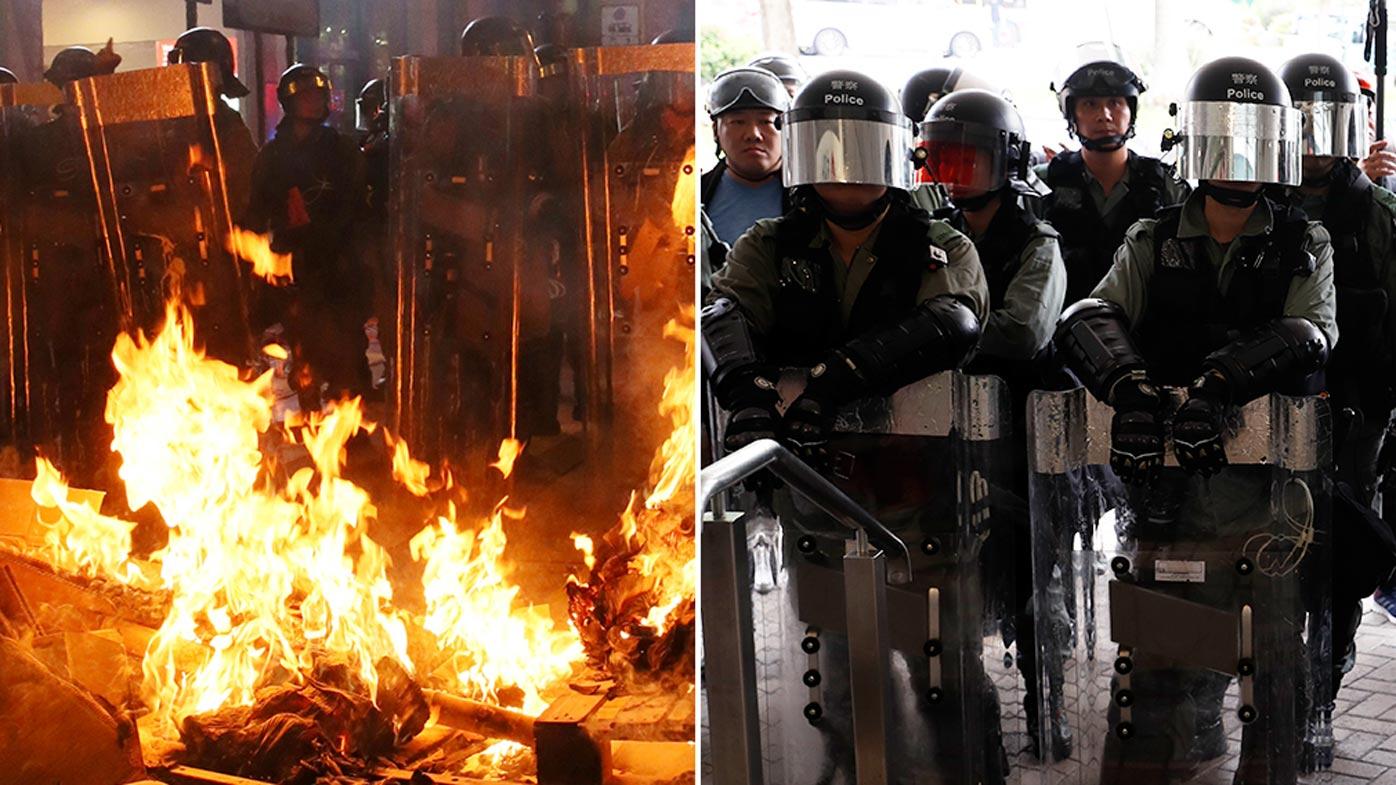 Hong Kong protesters shut down subway stations