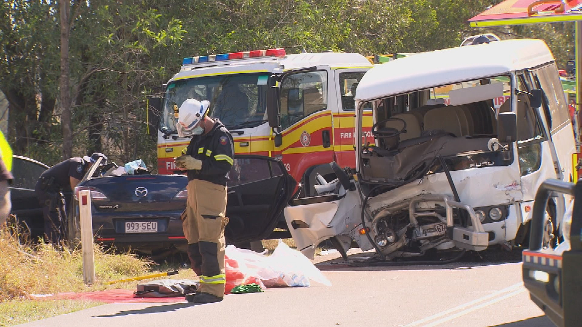 Both drivers have been airlifted to hospital in critical conditions.