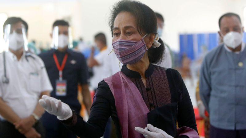 Ms Suu Kyi's prosecution poses yet another major setback for Myanmar, which had been making slow progress toward democracy when a February coup prevented elected lawmakers from her National League for Democracy party from taking office following last year's landslide victory.