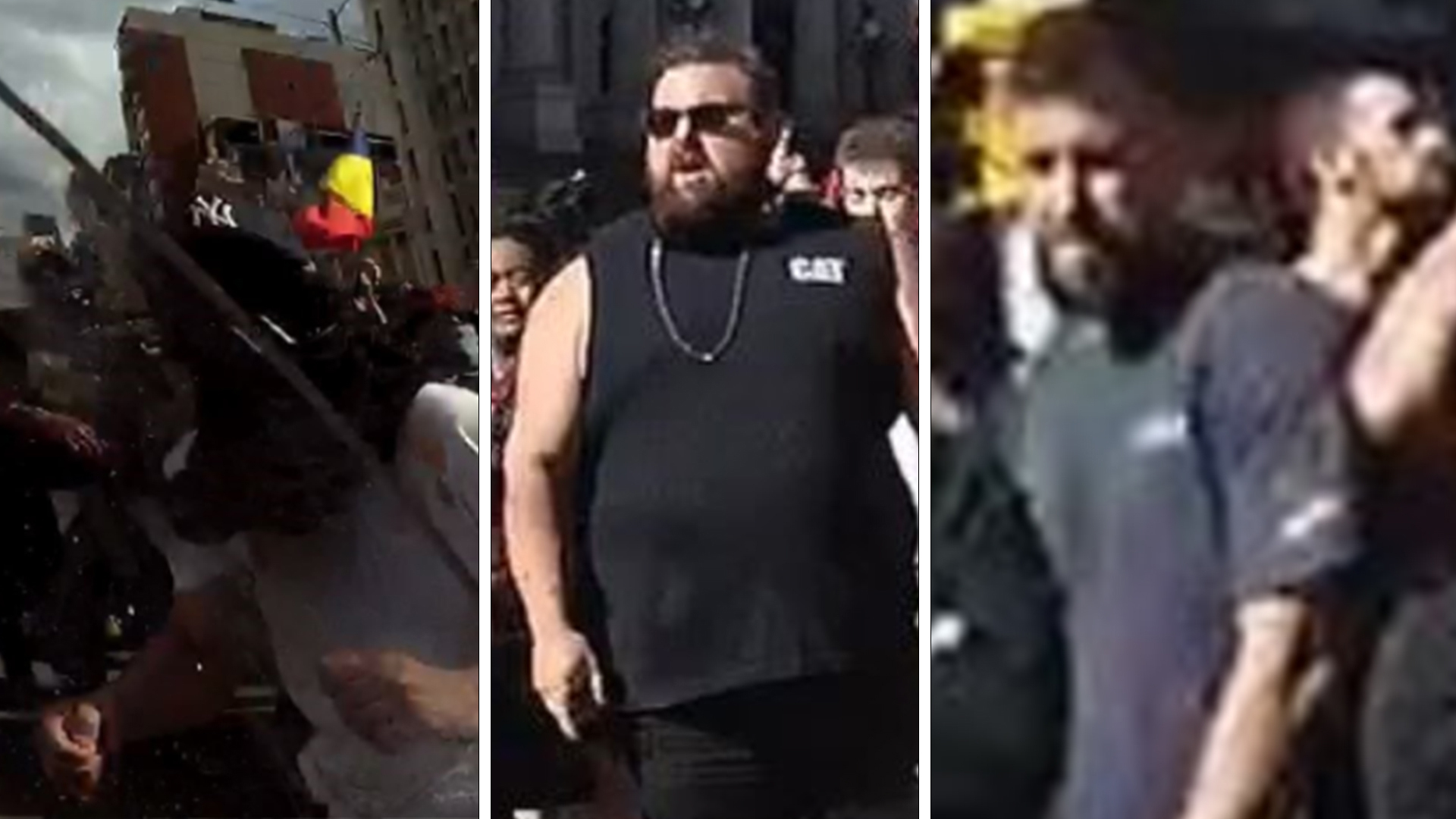 Victorian Police want to speak to six men after Melbourne's protests.