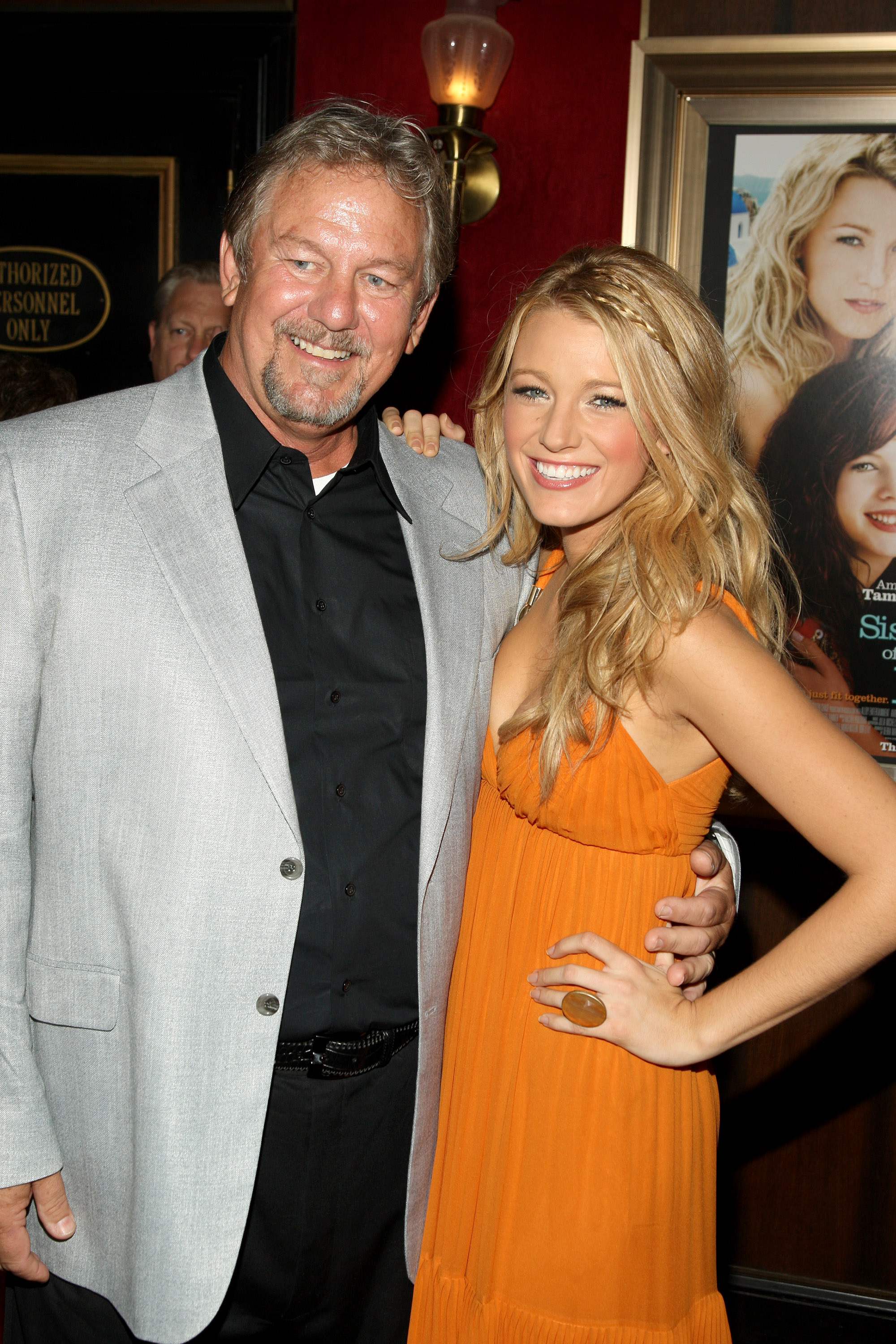 """Blake Lively and Ernie Lively attends the world premiere of  """"The Sisterhood Of The Traveling Pants 2"""" presented by Warner Bros. Pictures at the Ziegfeld Theatre on July 28, 2008 in New York City."""