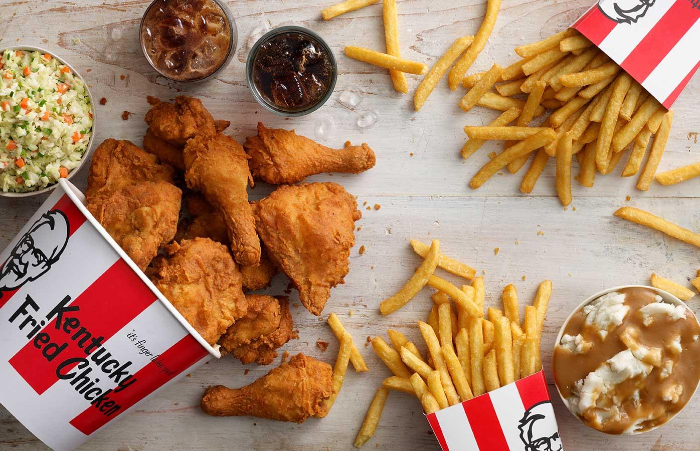 KFC Family Feast bucket meal