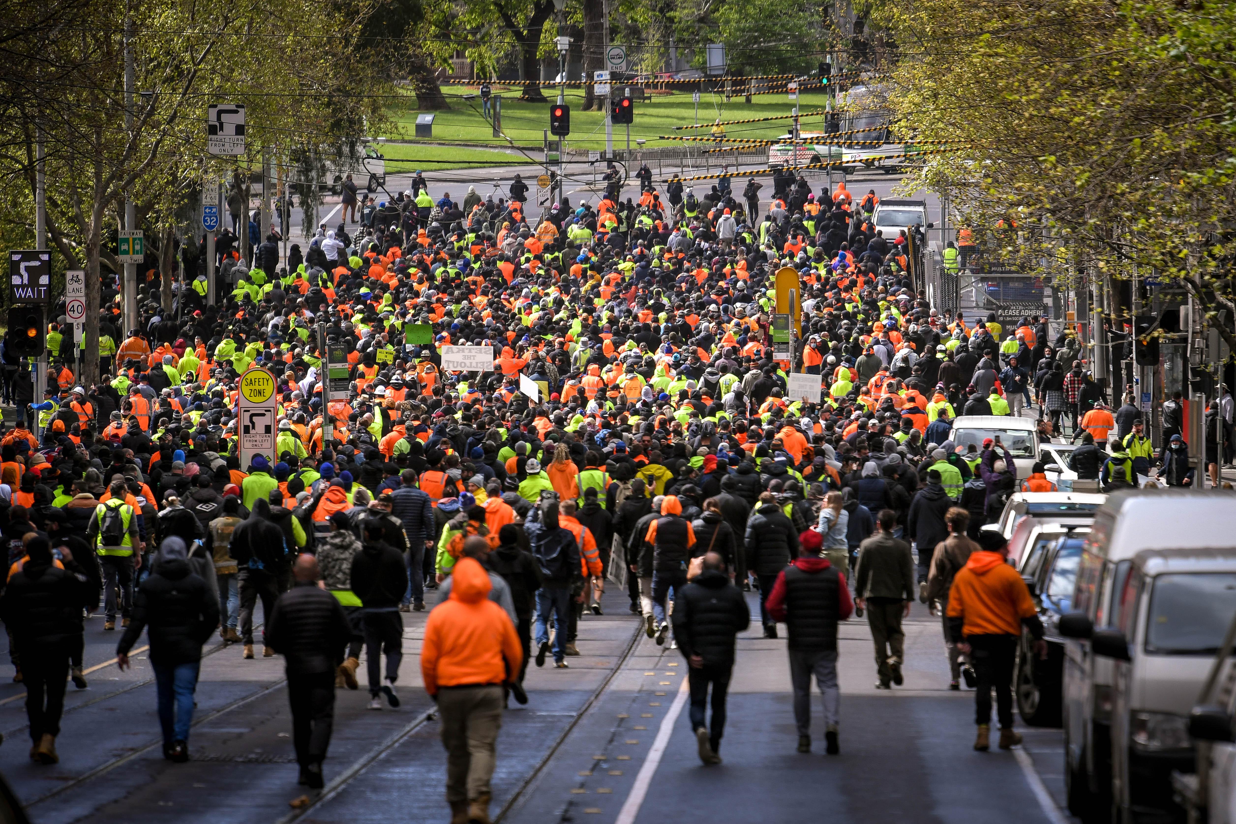 CMFEU Melbourne protests