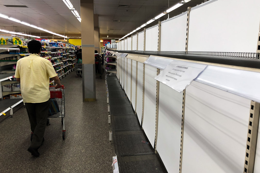Toilet paper has sold out at supermarkets across the country as shoppers stock up on supplies.
