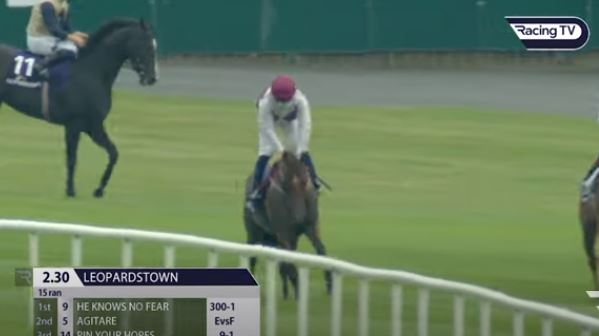 He Knows No Fear strikes at 300/1 at Leopardstown