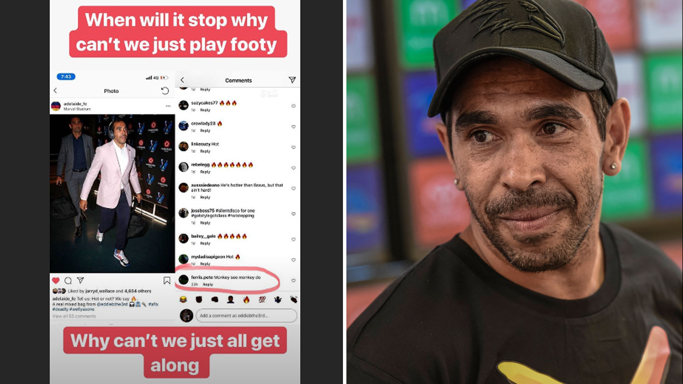 Eddie Betts highlights racist comment