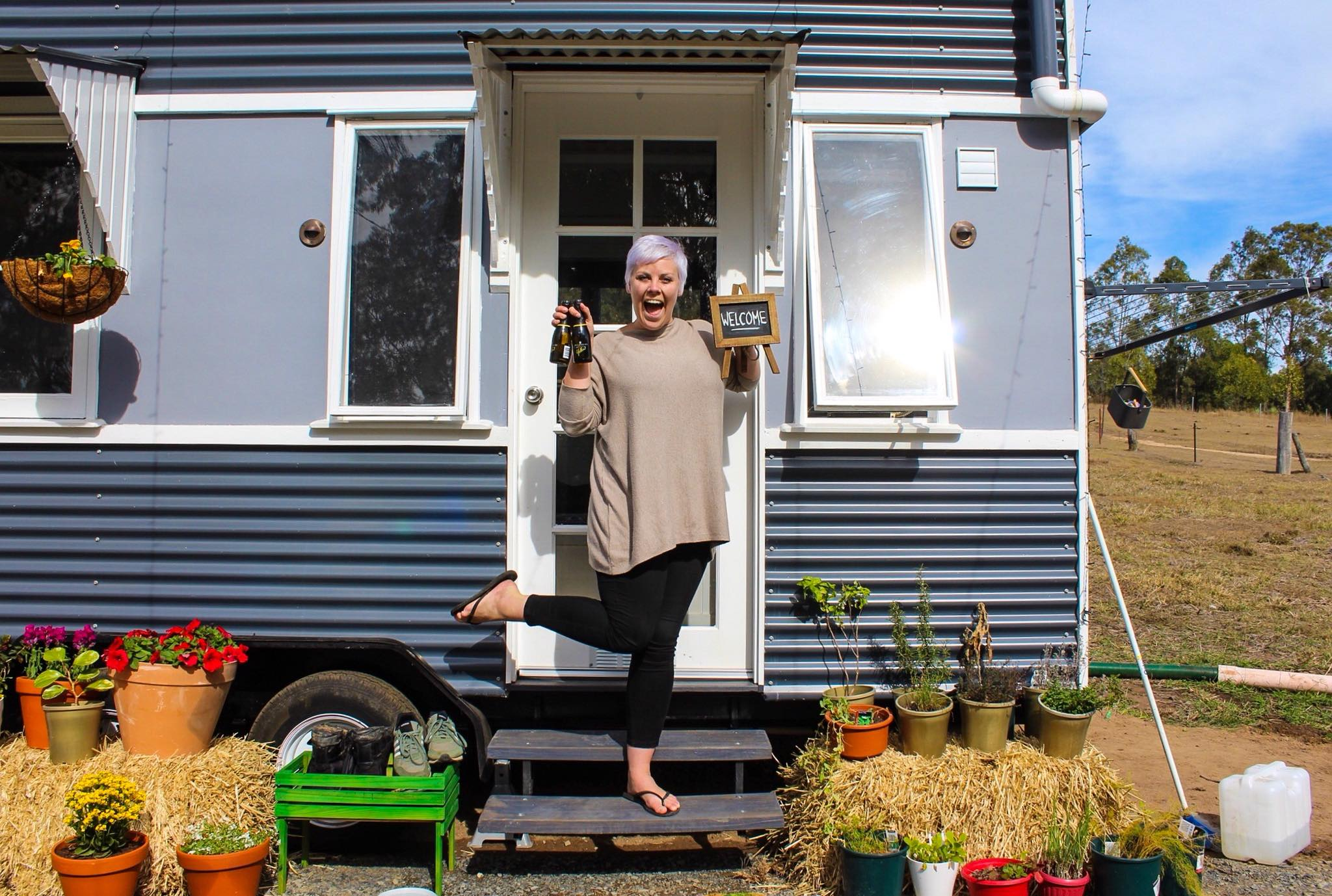 Tiny house 'Tabitha' saves couple's home ownership dreams - and she's now for sale