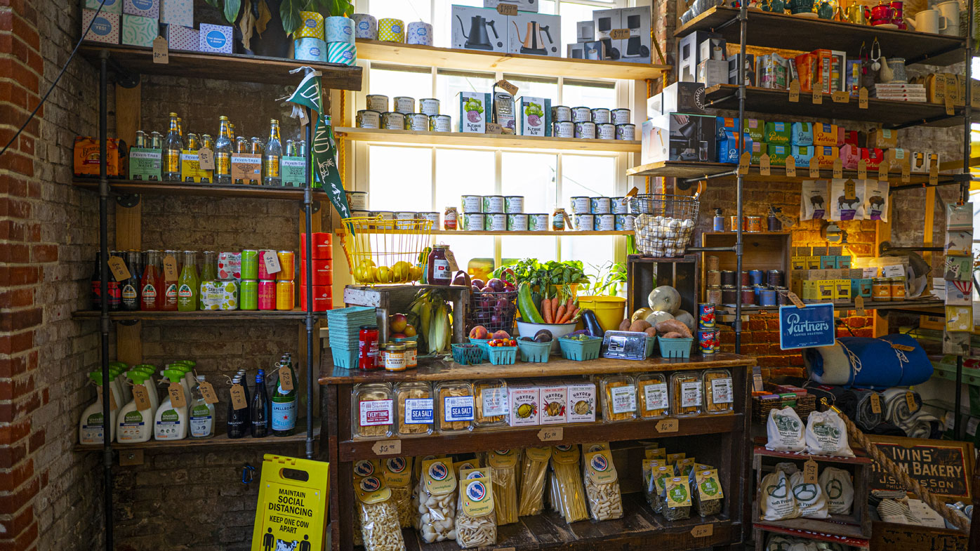 Tucker has provided the locals of Easton in Pennsylvania with much needed supplies over the past six months after transitioning from a cafe to a general store.