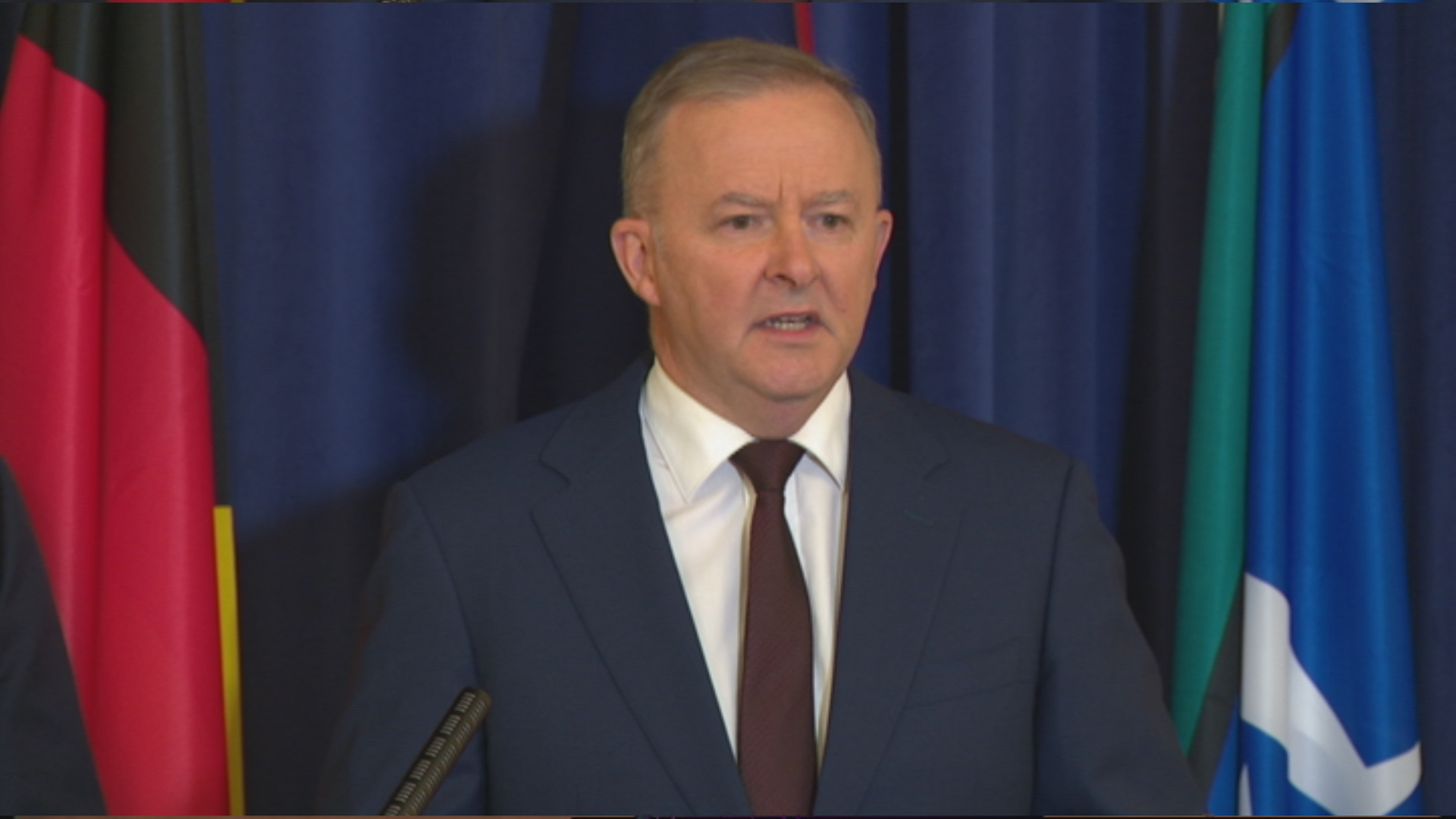 Labor Leader Anthony Albanese announcing his Cabinet reshuffle today.