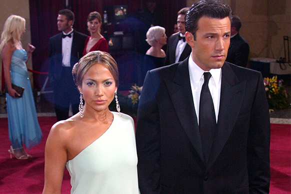 """The year of Bennifer! (Also the year of <i>Gigli</i>, the couple's on-screen debut together that's still considered one of the worst films of all time).<br/><br/>They looked <i>amazing</i> together, but also split shortly after.  There's no bad blood though – during the 2013 Golden Globes JLo was said to be """"beaming"""" when Ben accepted his win for <i>Argo </i>and the pair have admitted to keeping friendly email contact. <br/>"""