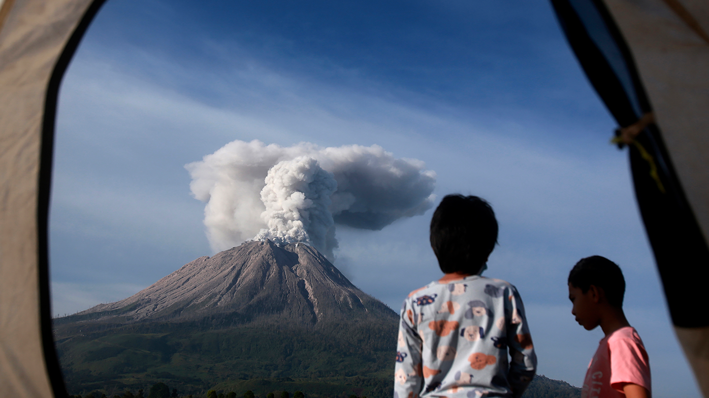Indonesian volcano unleashes gas, smoke and ash in eruption