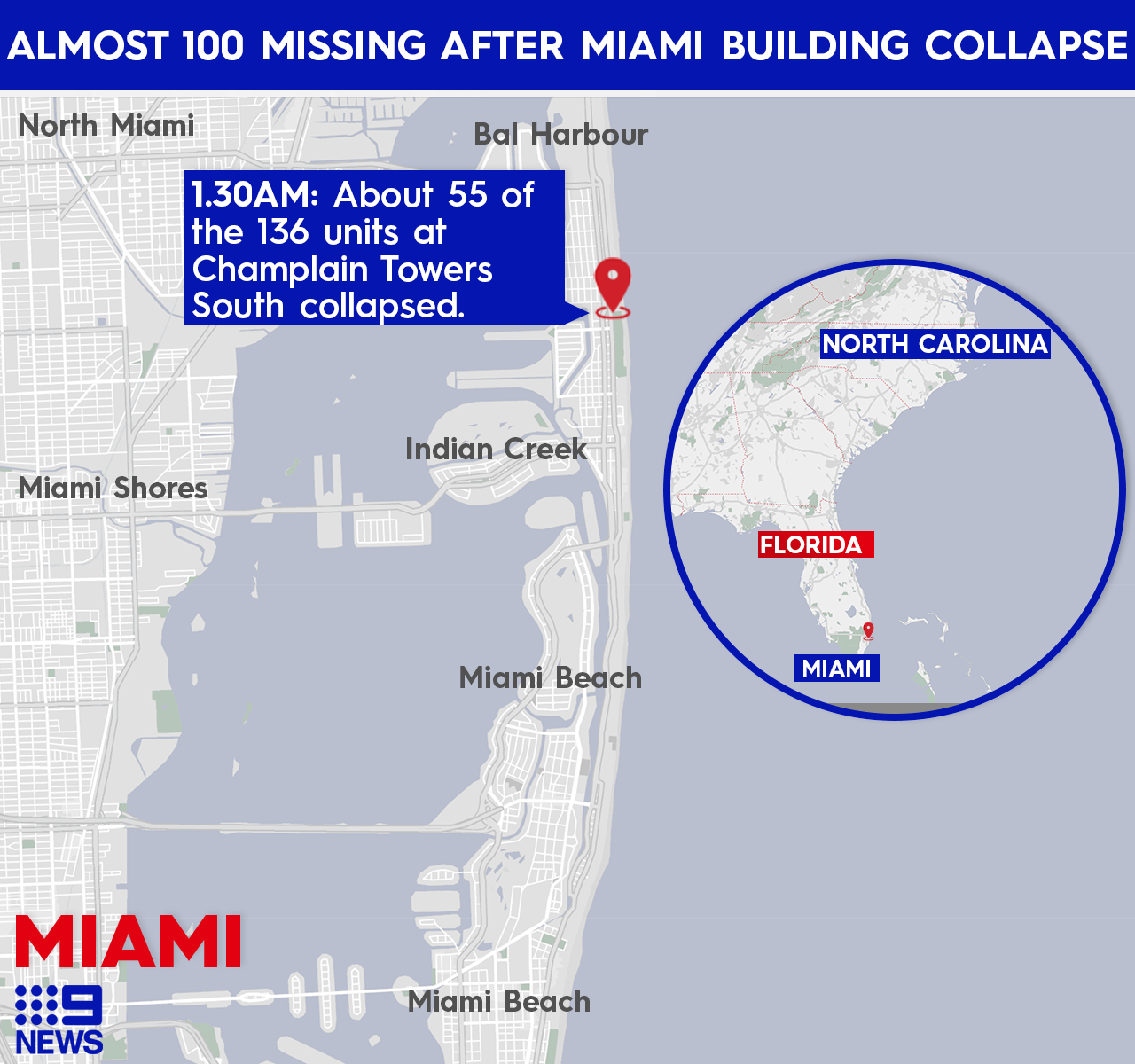 First responders in Miami have revealed they have heard banging coming from underneath the rubble, but no voices.
