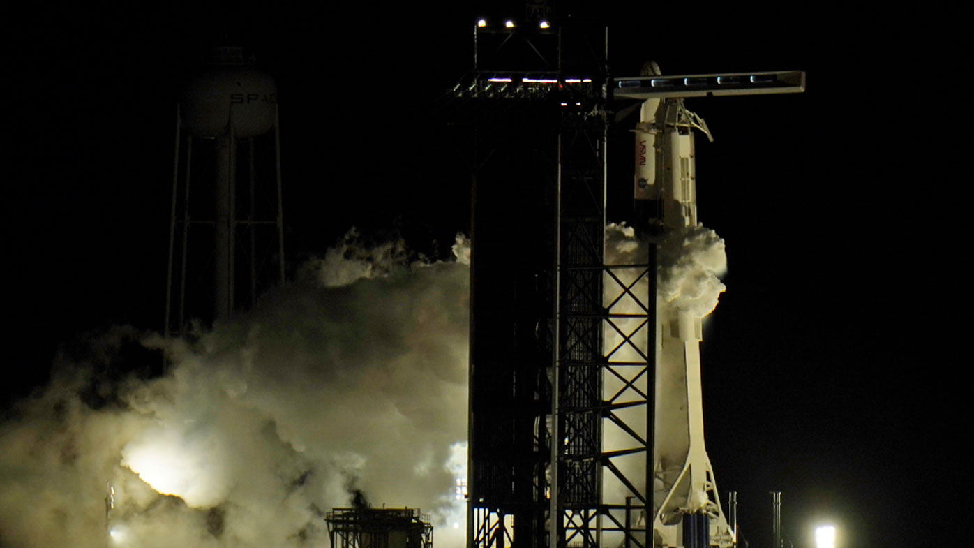 SpaceX rocket blasts off for mission to International Space Station