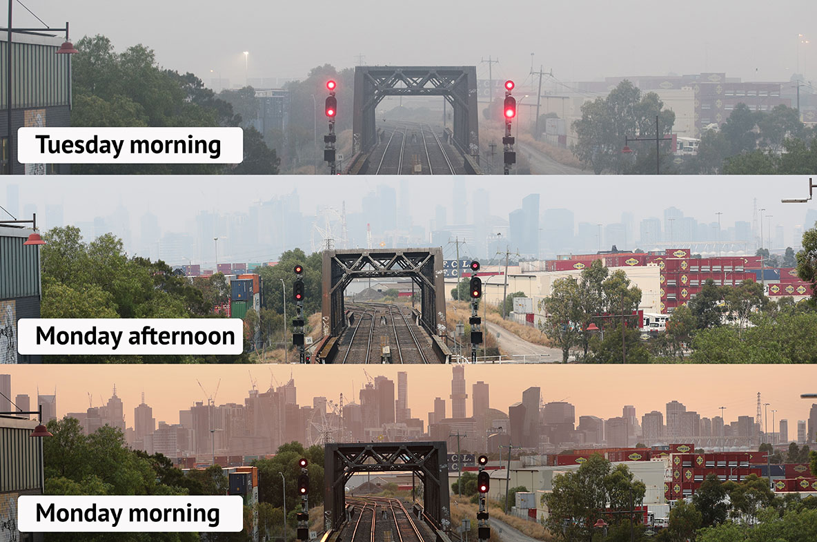 'Hazardous' air quality in Melbourne as new inquiry launched