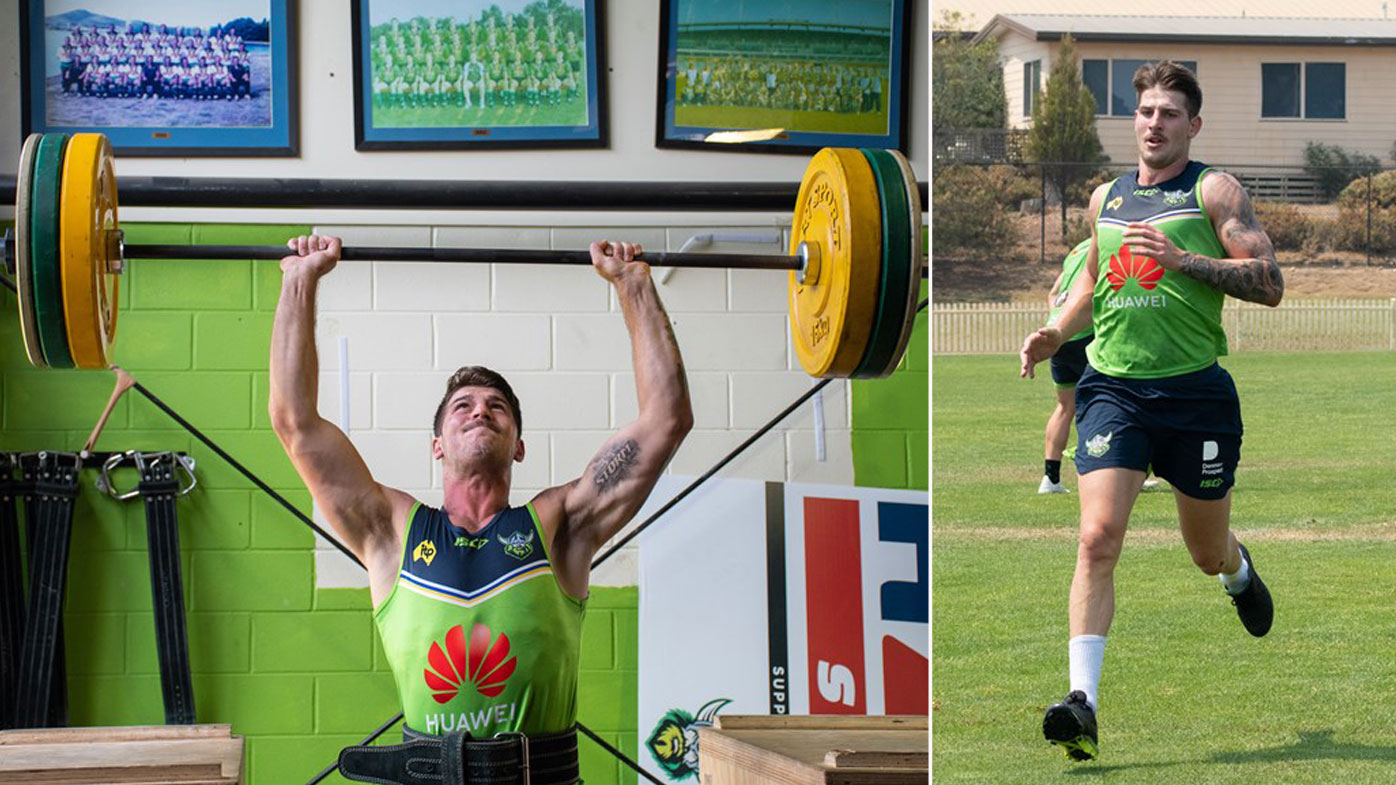 Curtis Scott at pre-season training in Canberra
