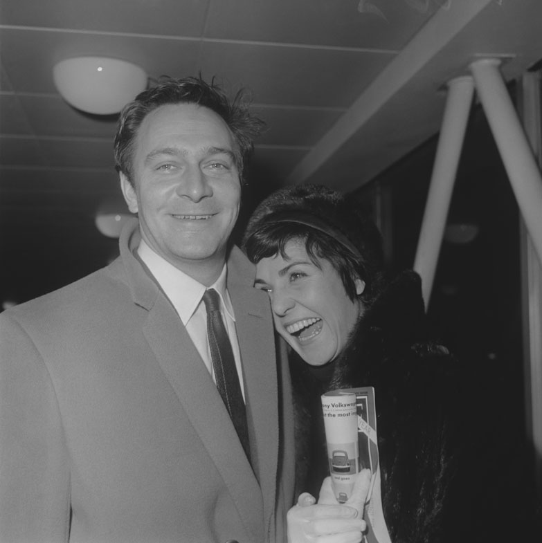 Christopher Plummer pictured with his wife Patricia Lewis at London airport on 7th January 1963