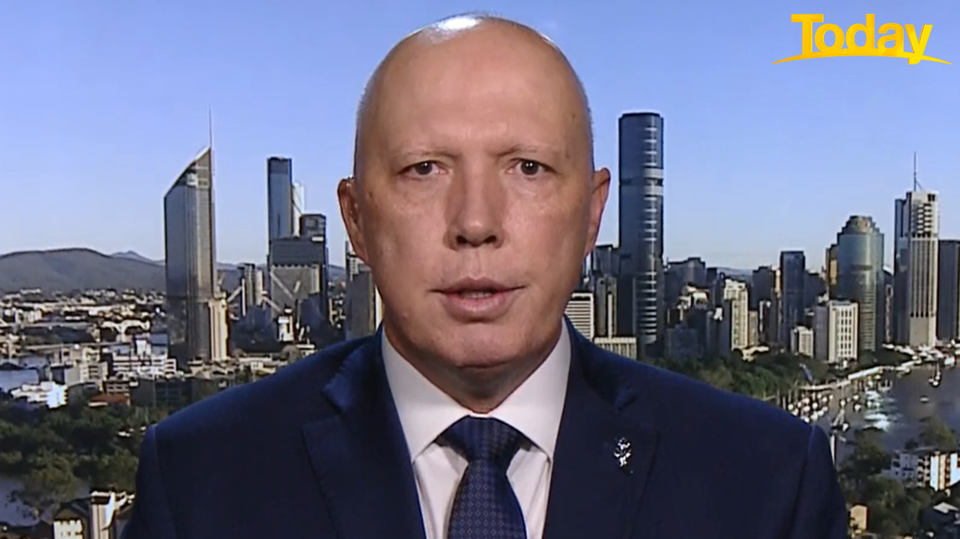Defence Minister Peter Dutton.