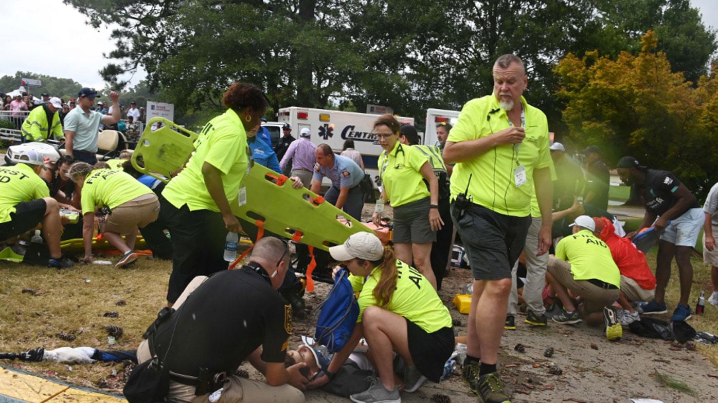 Six injured after lightning strike at golf tournament