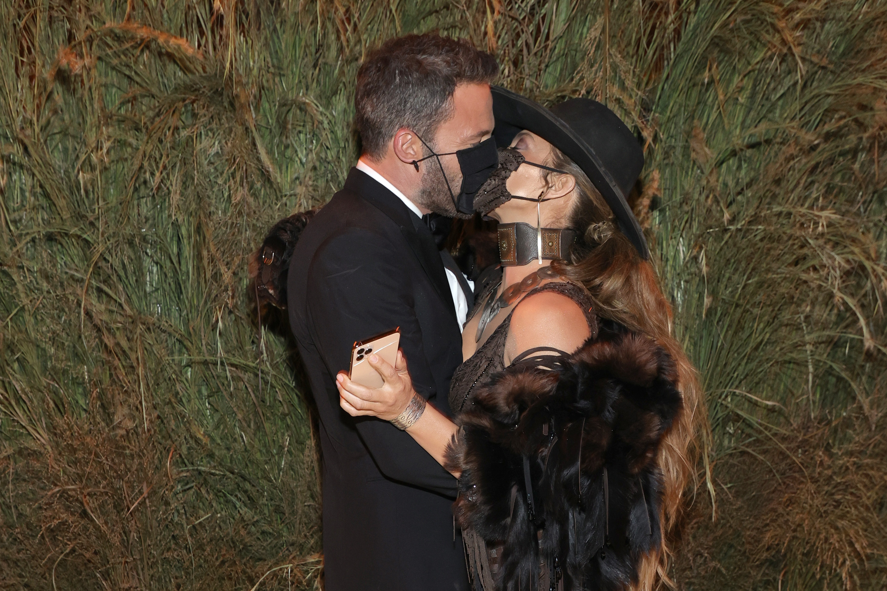 Ben Affleck and Jennifer Lopez attend the 2021 Met Gala at the Metropolitan Museum of Art on September 13, 2021 in New York City.