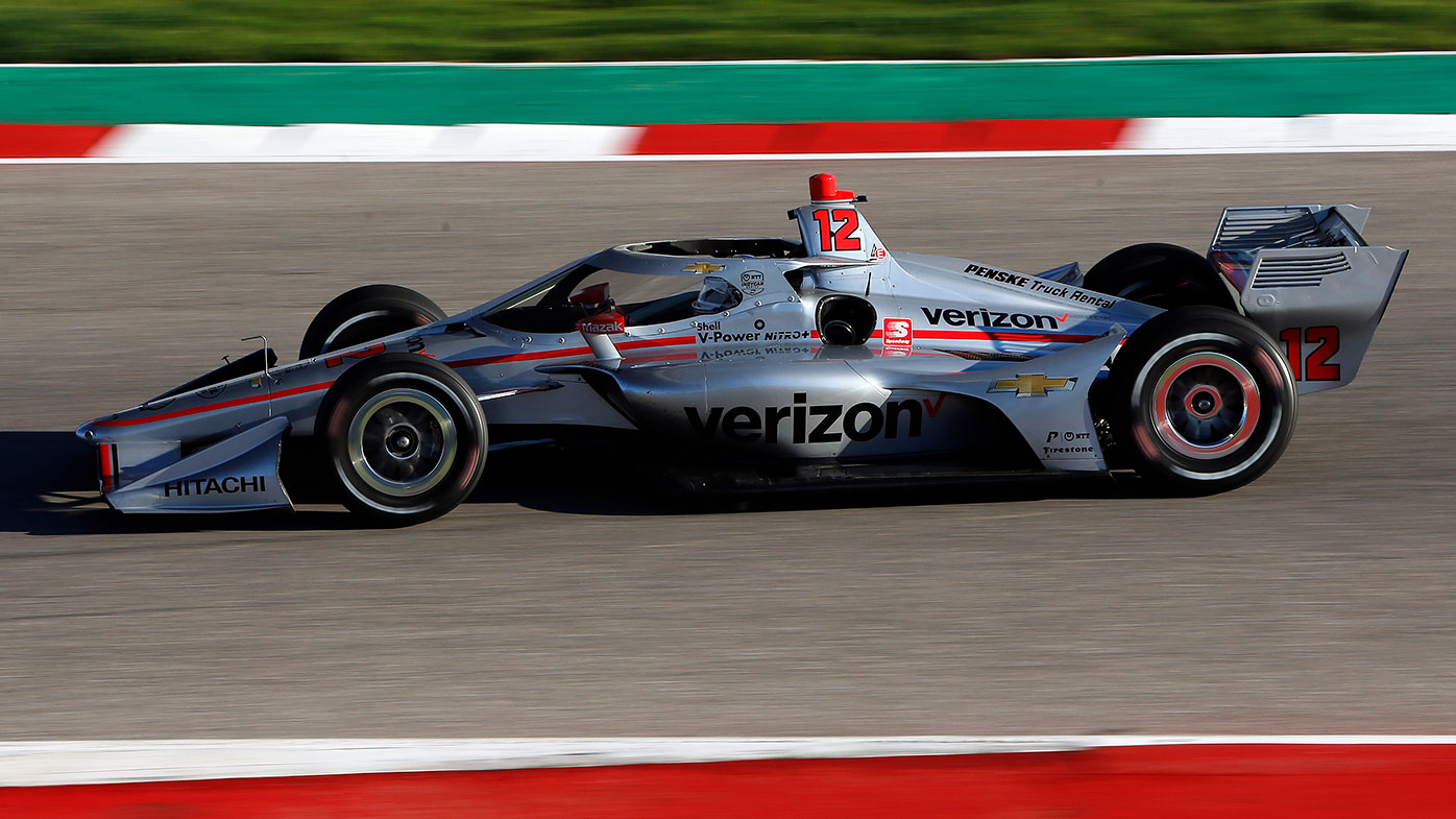 Will Power in action for Penske.