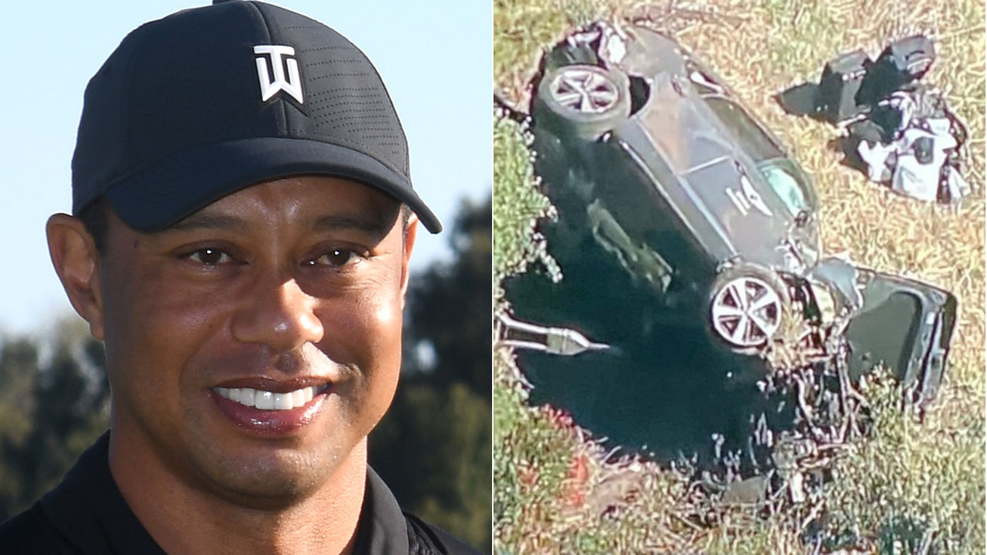 Tiger Woods hospitalized after vehicle  crash in California