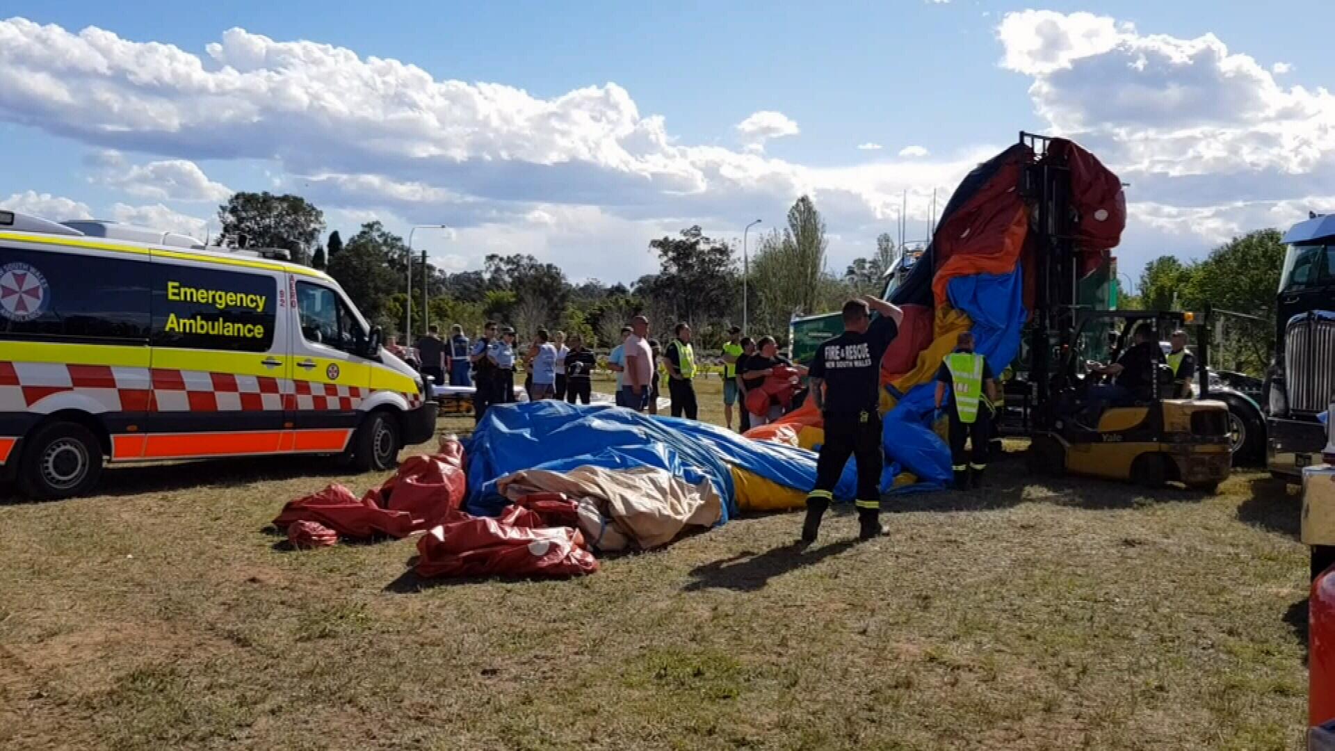 Children injured as strong winds flip jumping castle