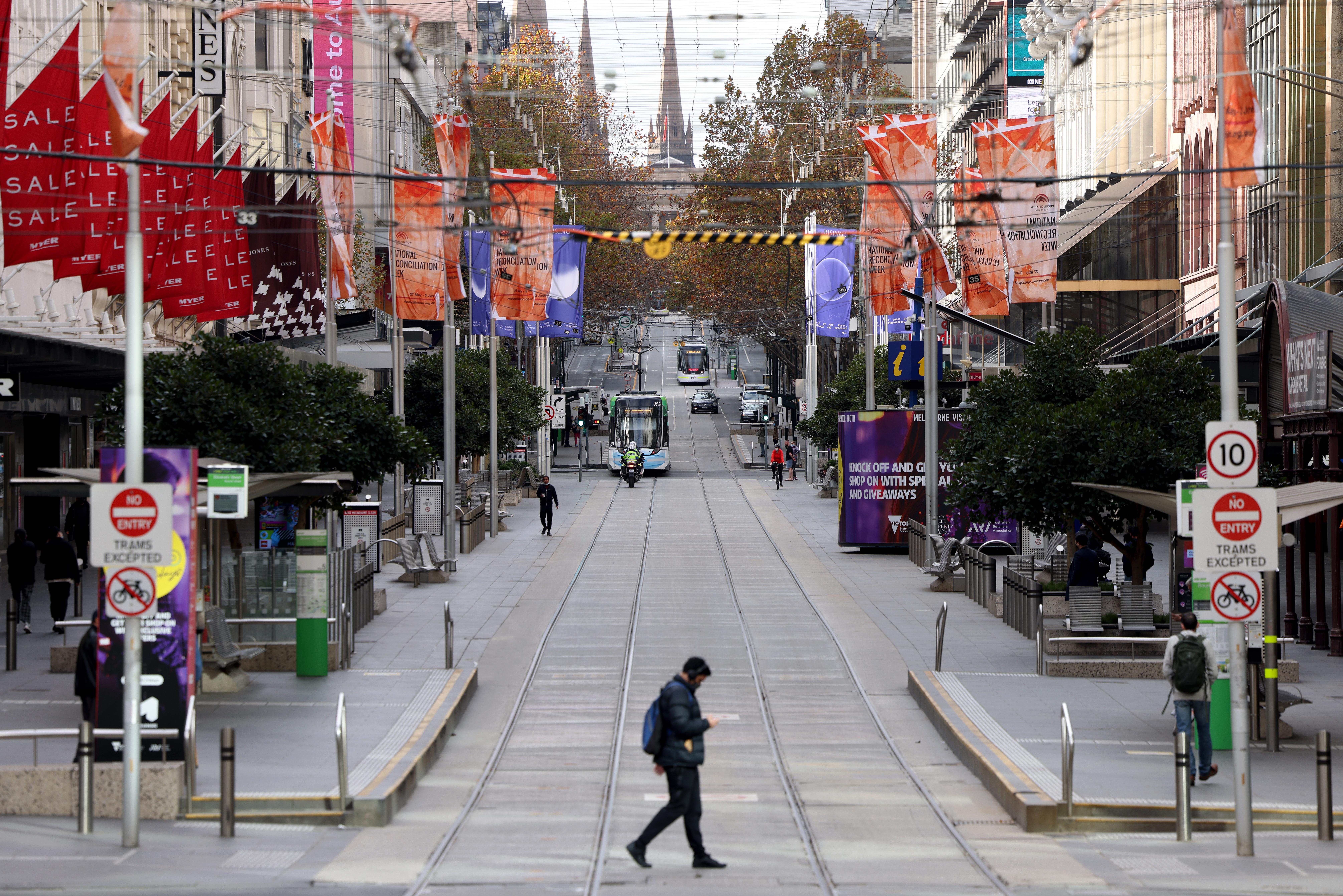 Scenes from Melbourne in lockdown