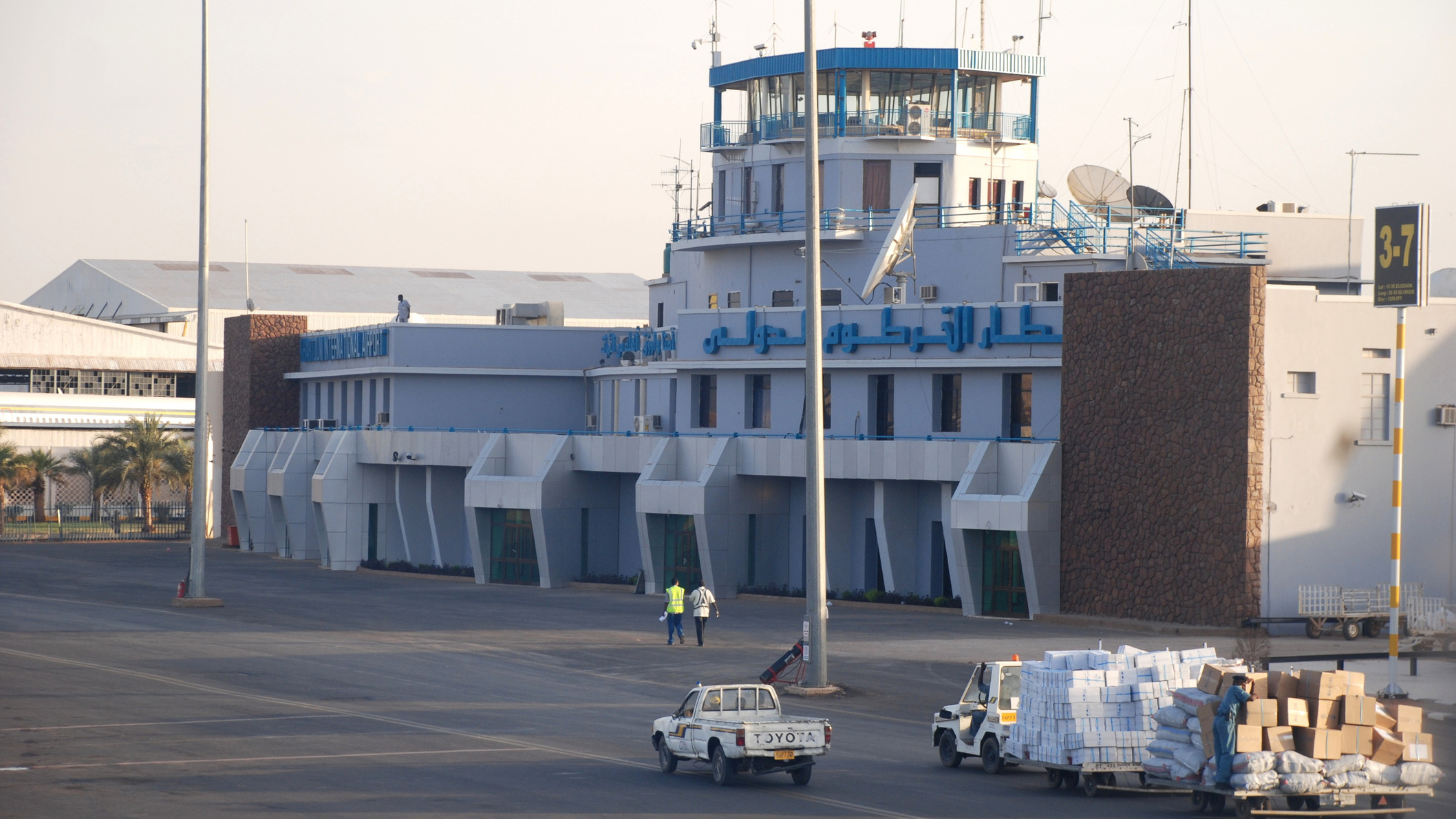 The plane had to land at Khartoum International Airport after the cat got into the cockpit.