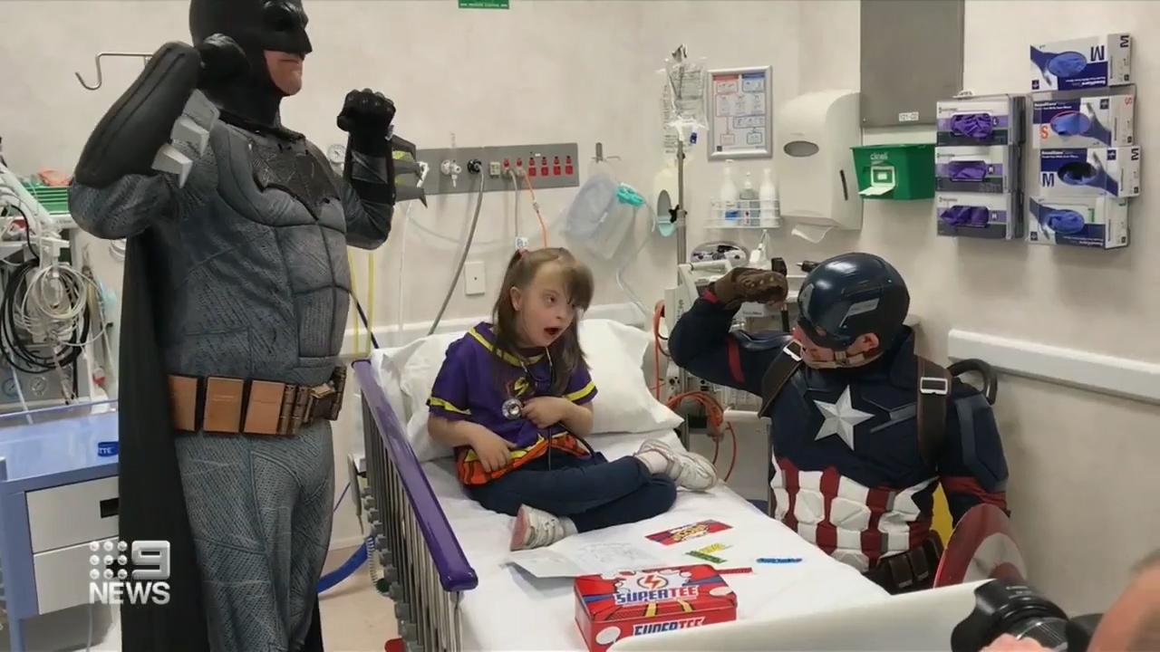 Unique superhero costumes help sick Aussie kids in hospital
