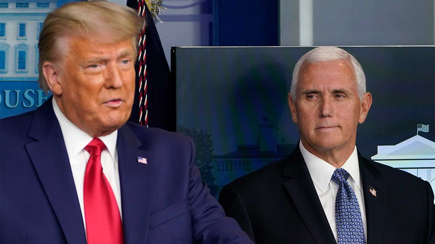 Donald Trump and Mike Pence have fallen out in recent weeks.