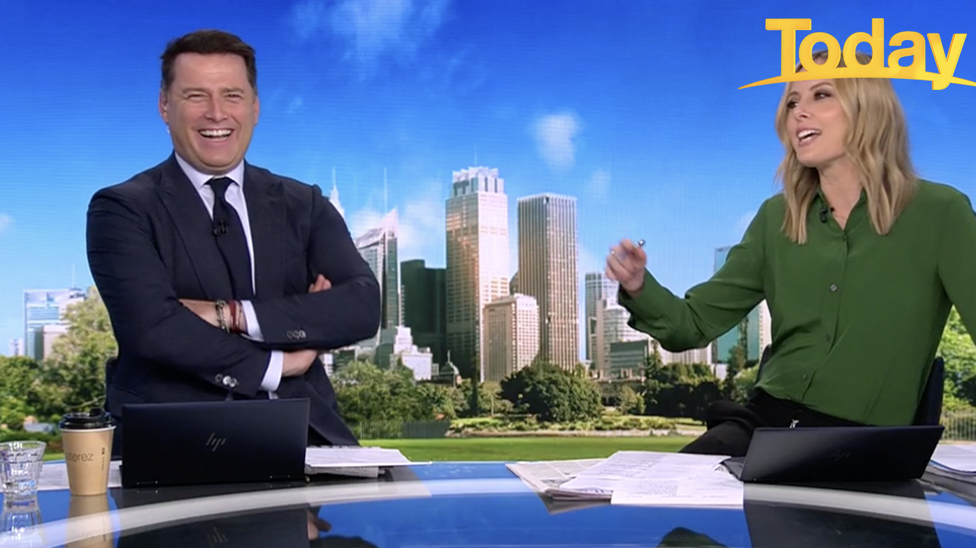 Karl Stefanovic found his co-host's pick hilarious and burst into laughter.