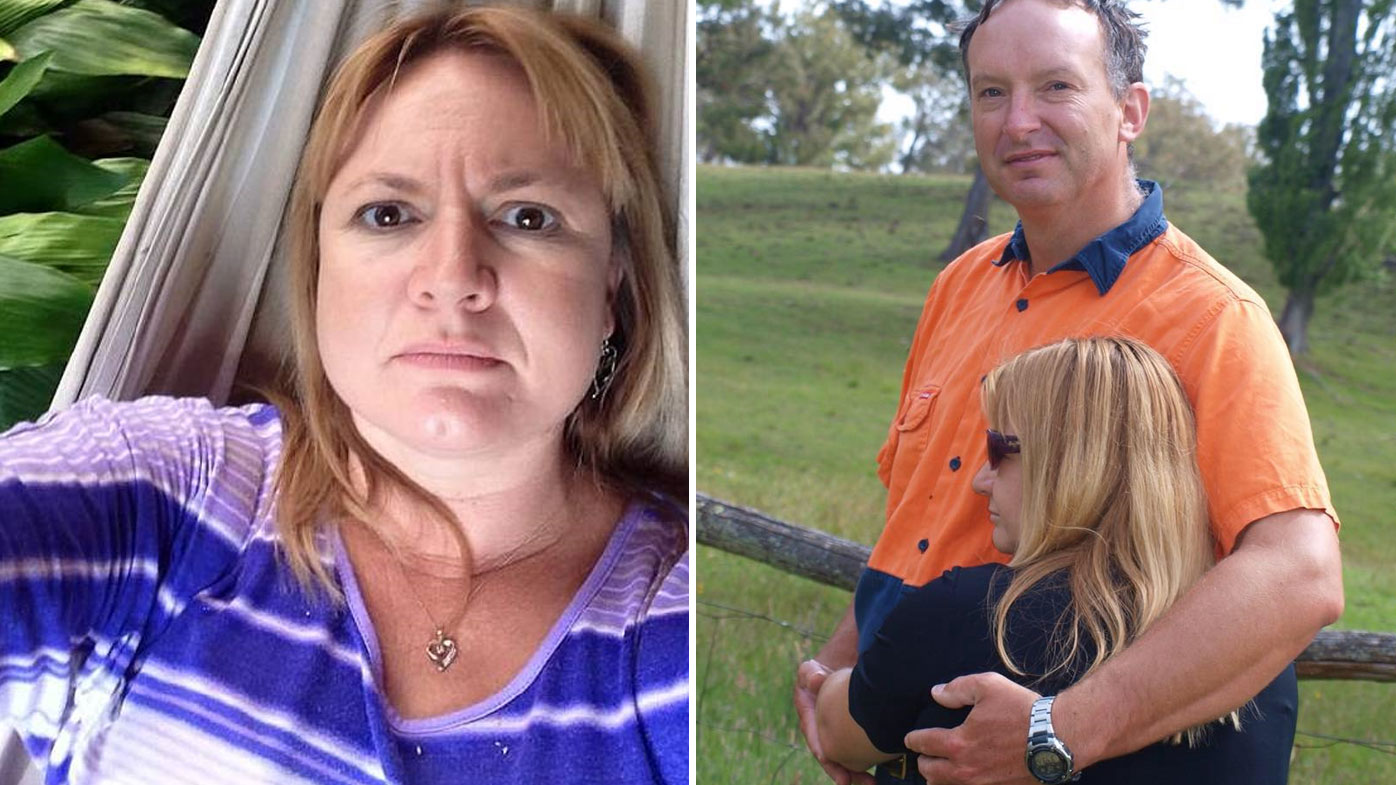 Natasha Beth Darcy (left) is on trial for the murder of her partner Mathew Dunbar (right).