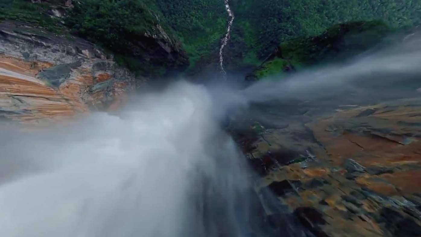 Mr van Jason captured his 'dream' FPV shot: diving down Angel Falls, the world's tallest waterfall.