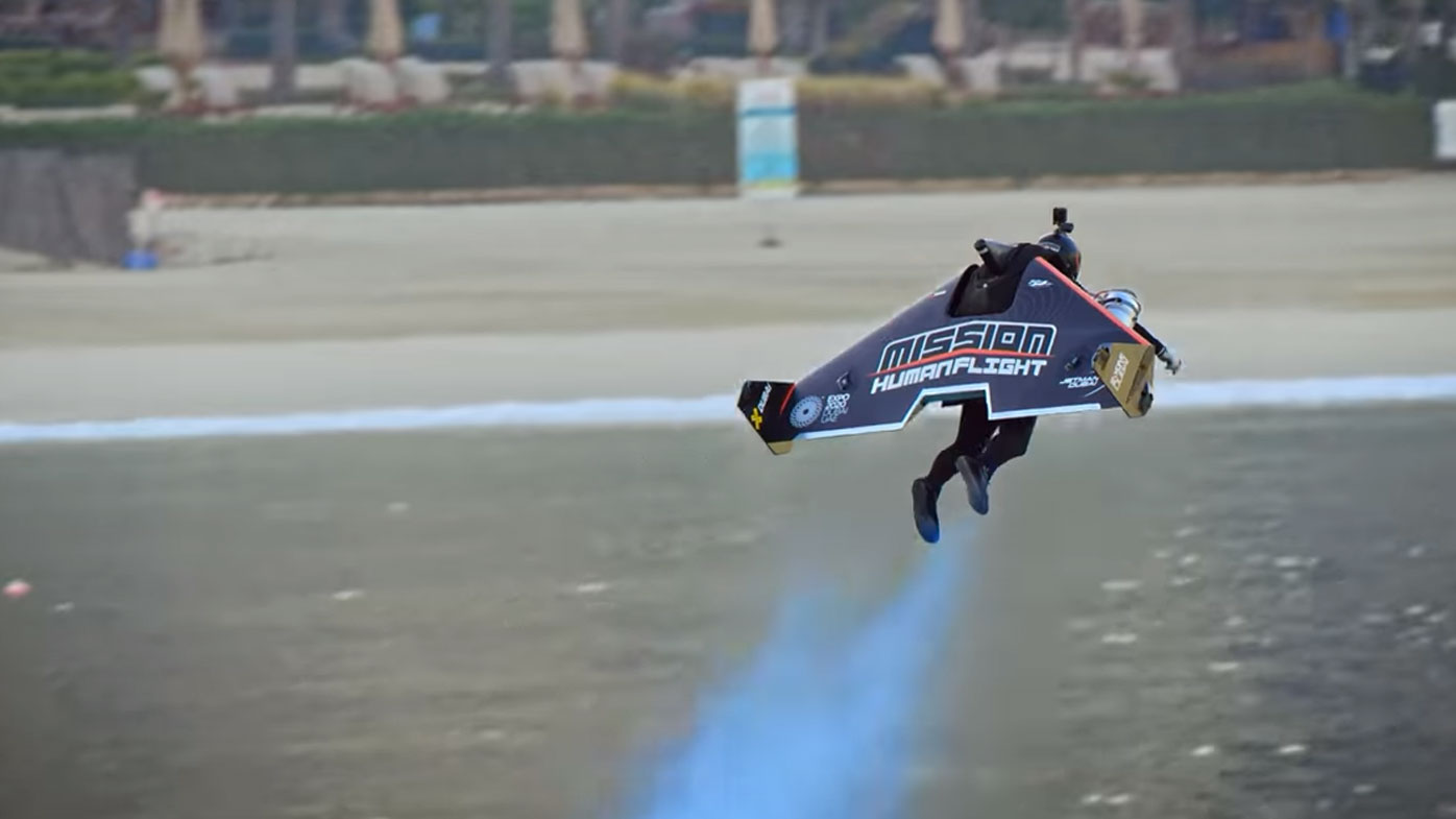 The wingsuit travelled at an average speed of 240km/h.