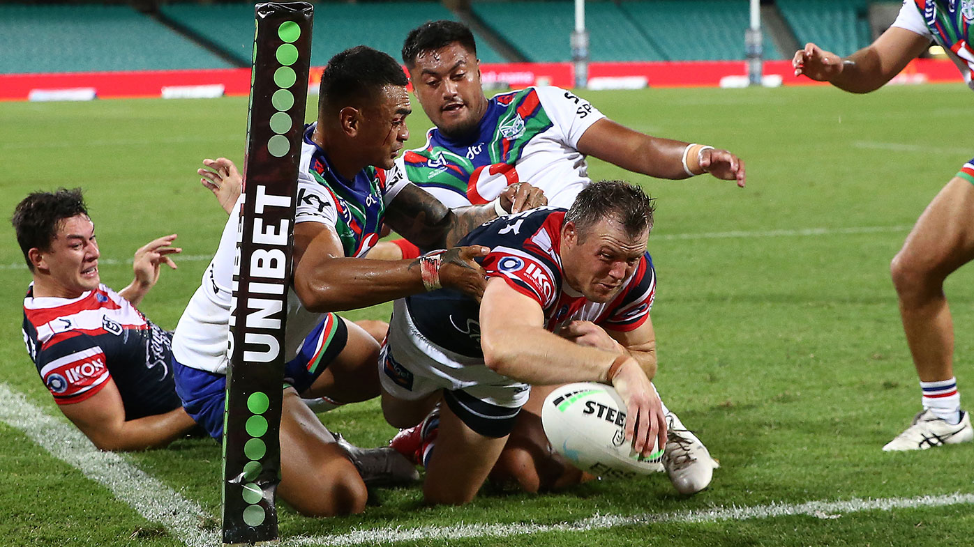 Brett Morris scores for the Roosters