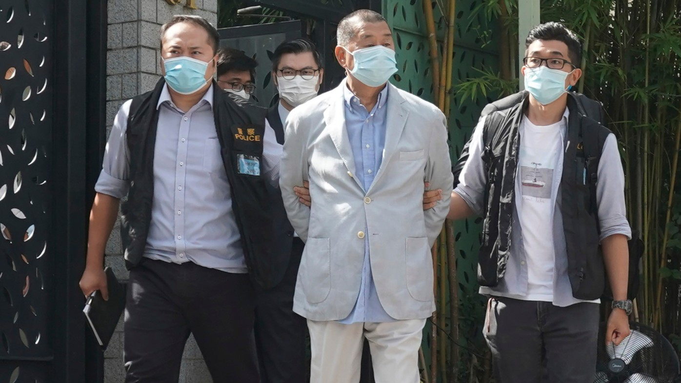 Hong Kong media tycoon Jimmy Lai has been arrested.