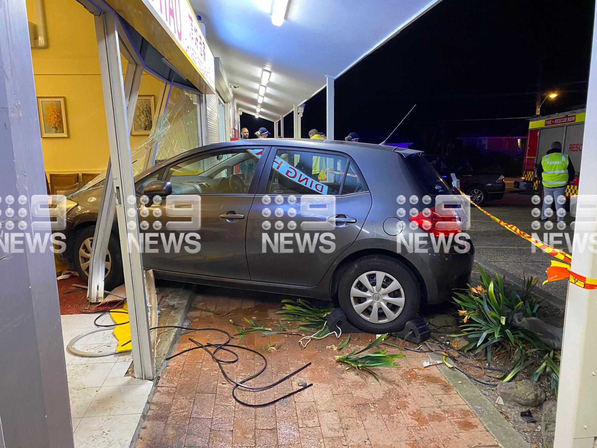 Car smashes into busy Sydney restaurant