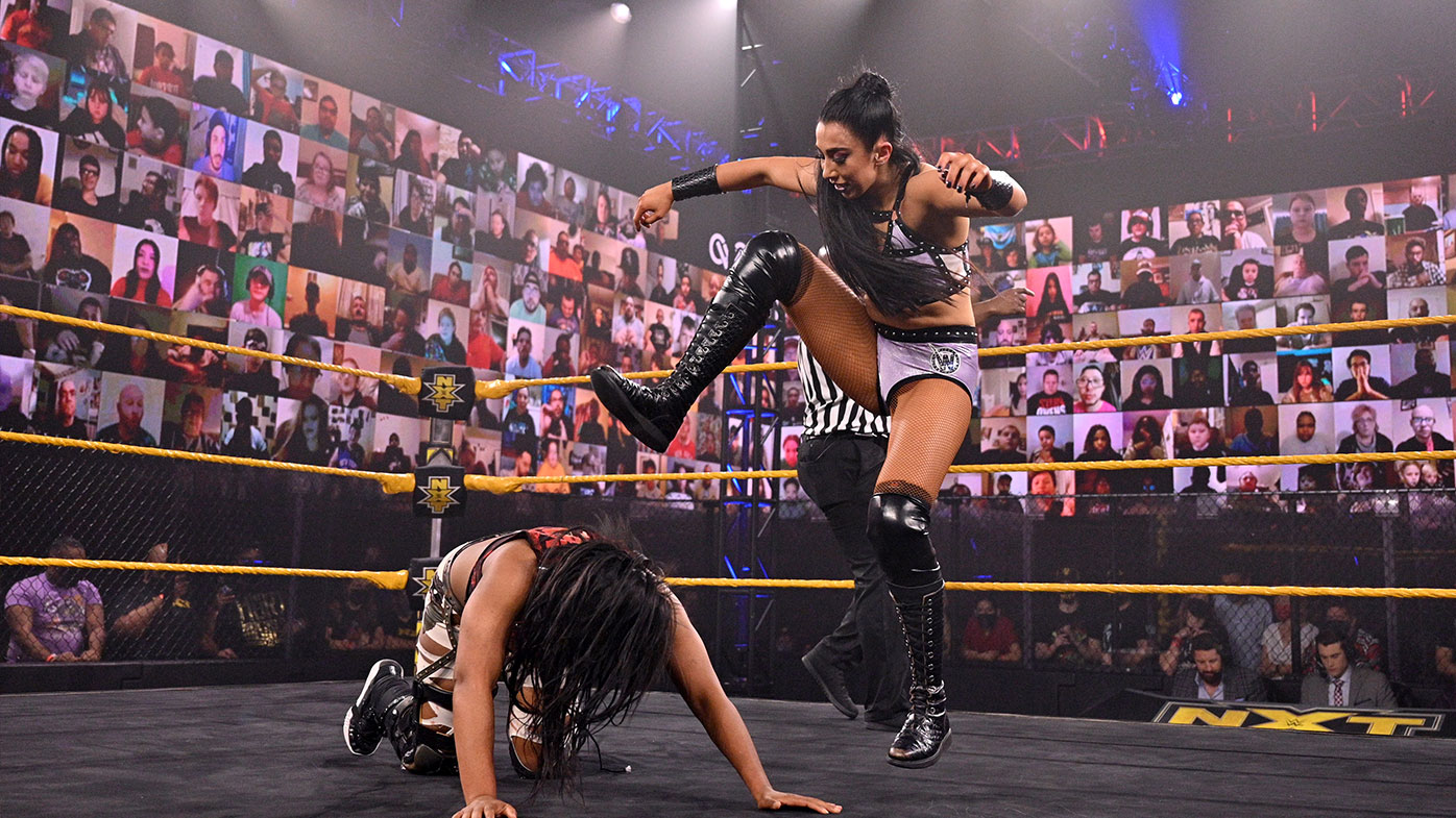 Indi Hartwell in action on WWE NXT