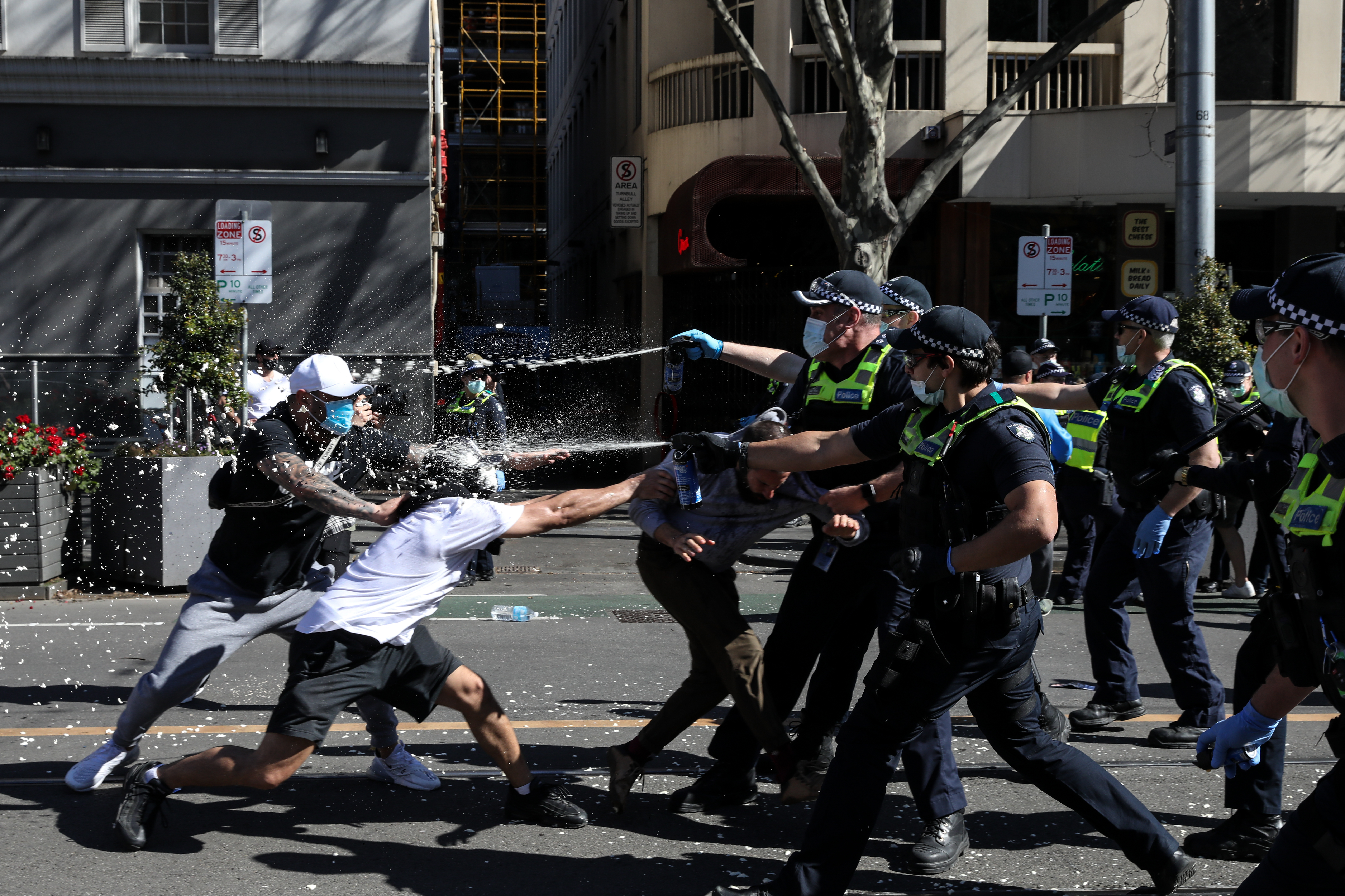 Melbourne anti-lockdown protests, Saturday August 21, 2021