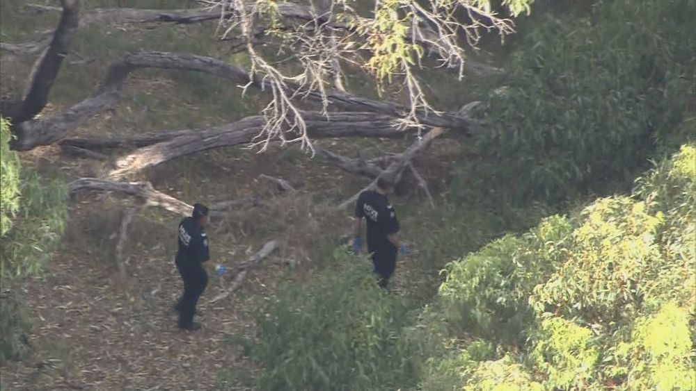 Police also searched bushland during yesterday's raids.