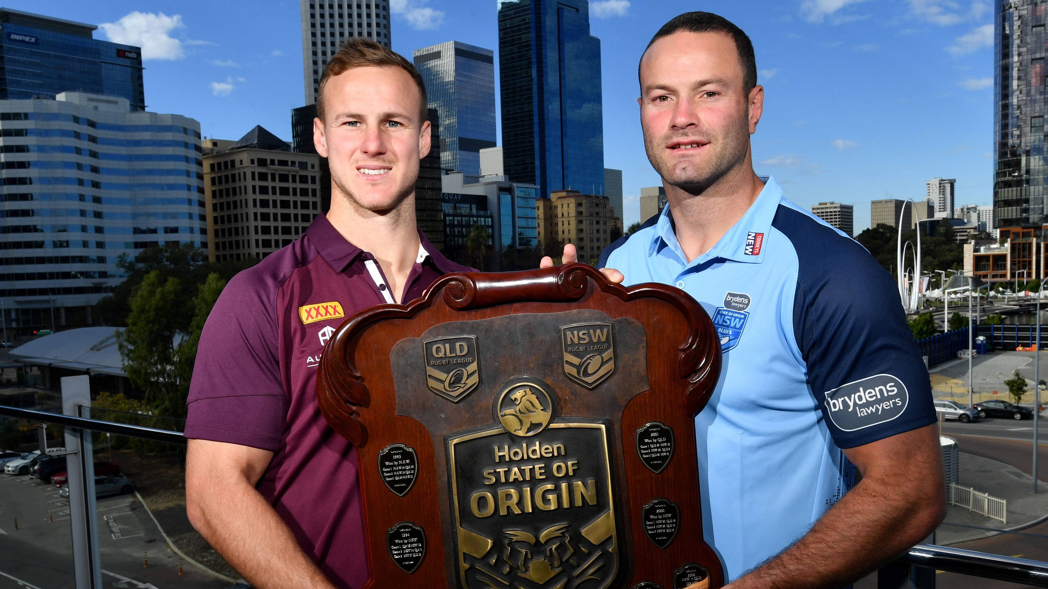 Daly Cherry-Evans and Darius Boyd