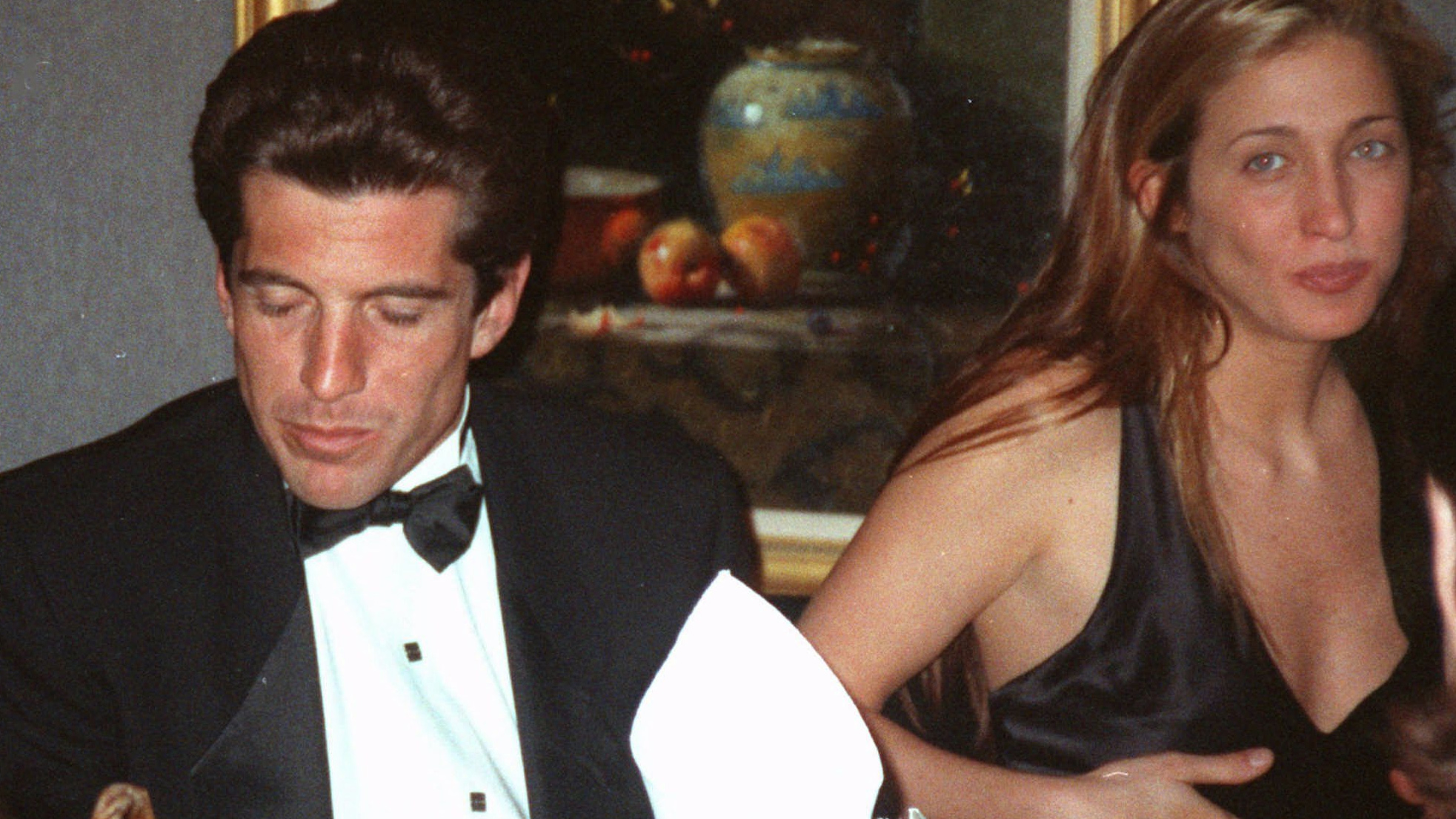 John F. Kennedy, Jr., and his wife Carolyn Bessette pictured before their wedding in 1995.