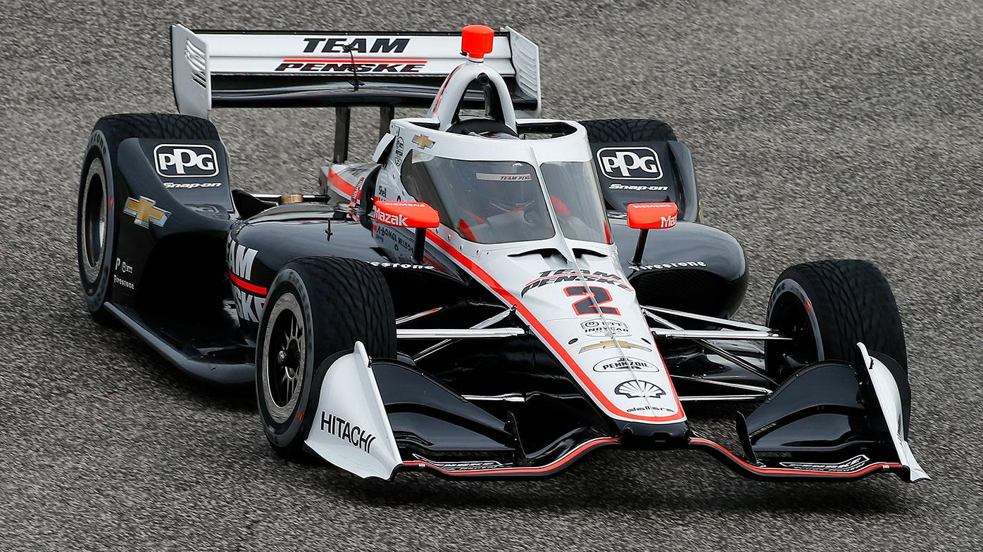 Scott McLaughlin in action for Penske during IndyCar spring training.