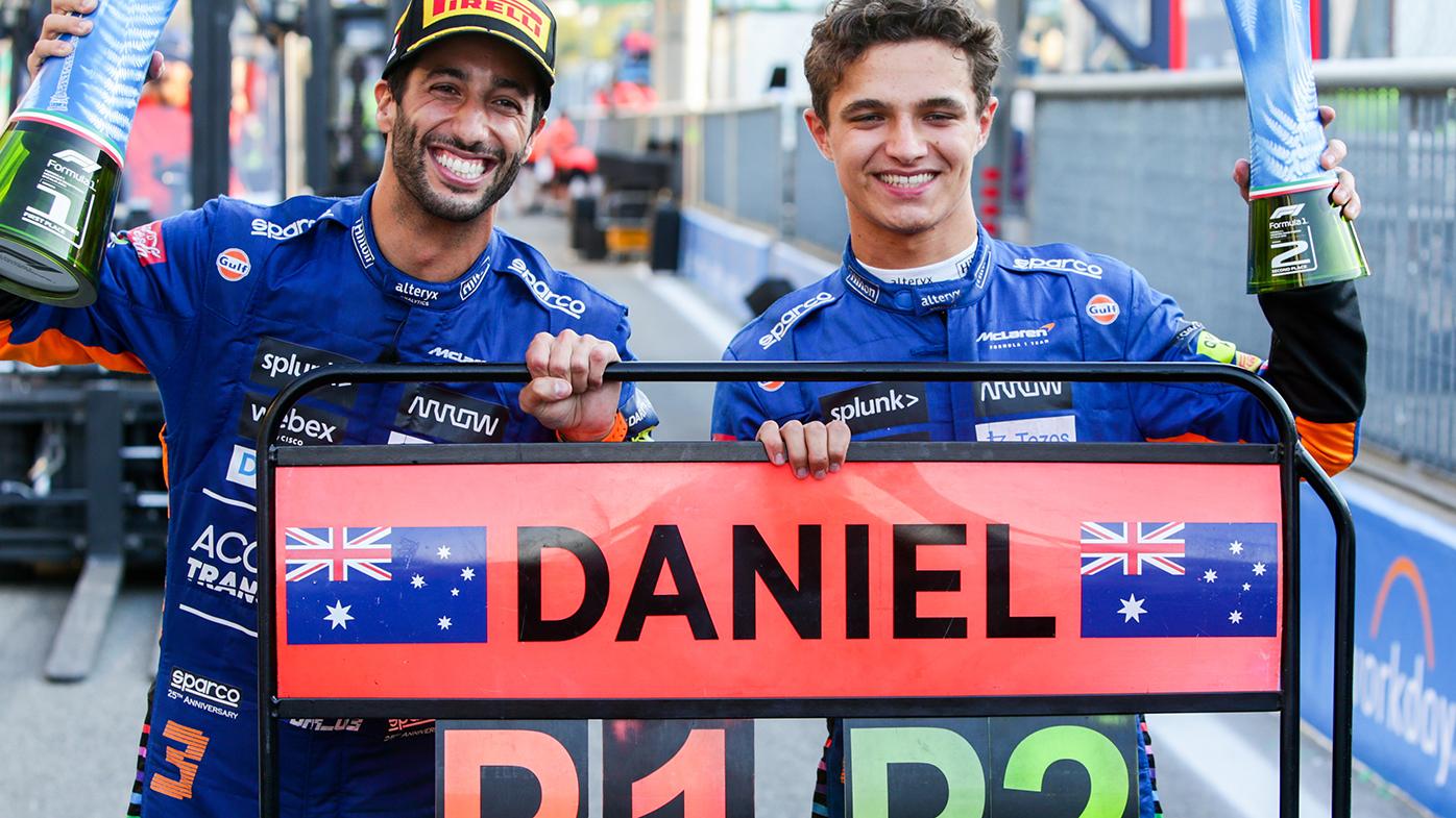 Daniel Ricciardo and Lando Norris finished 1-2 for McLaren at the Italian Grand Prix.