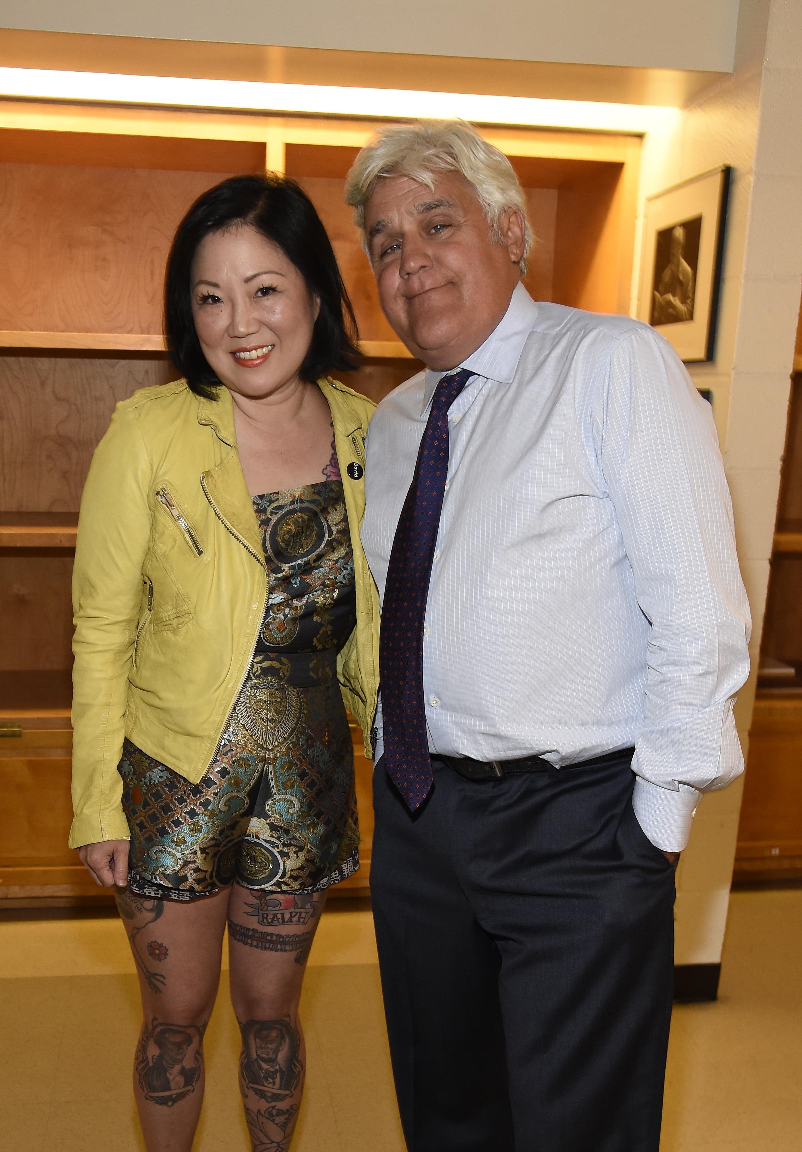 Margaret Cho and Jay Leno