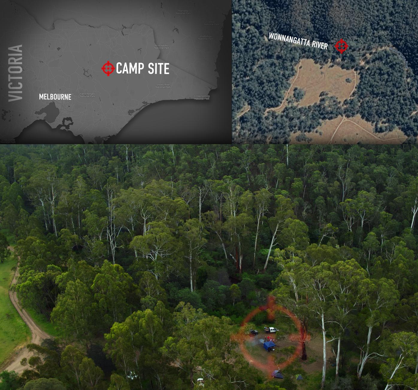 Under Investigation: Location of the campsite
