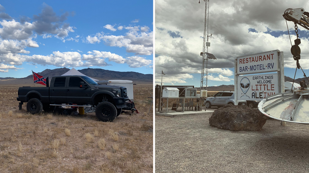 Alien enthusiasts flock to US desert for 'Storm Area 51' event