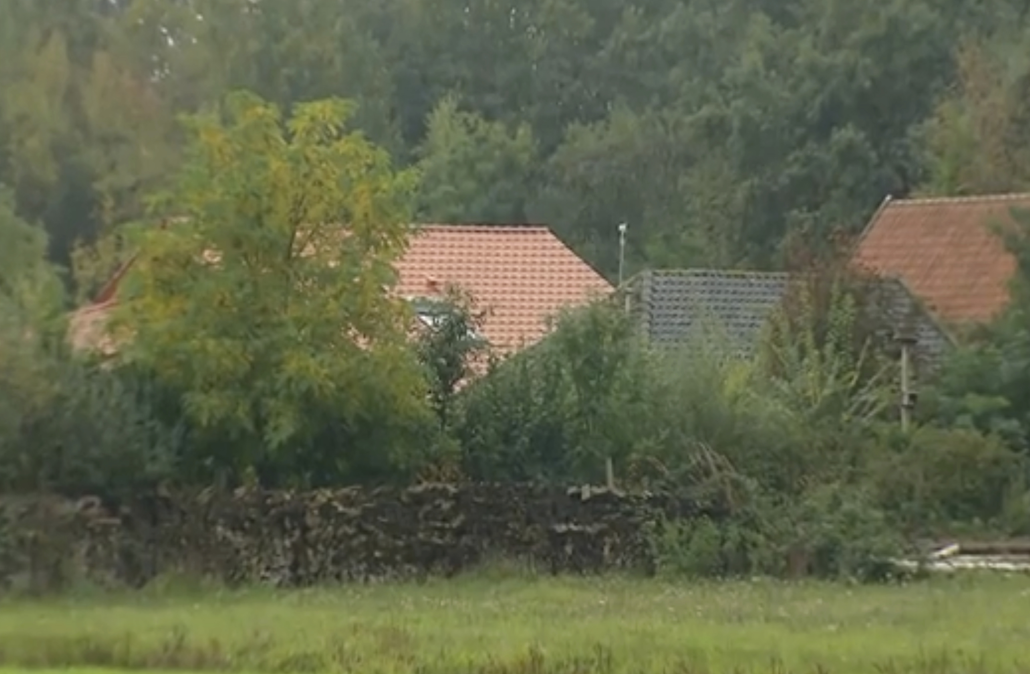 The small group of buildings after a family group were discovered to be living in secluded conditions in Ruinerwold, 130 kilometers (80 miles) northeast of Amsterdam, Netherlands.